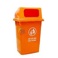 Thùng rác nhựa 90L nắp hở