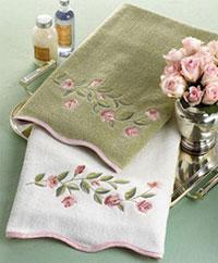 Thêu vi tính trên khăn