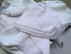 Vải lau trắng