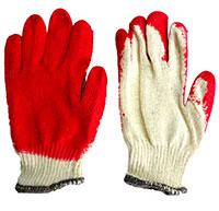 Găng tay len phủ cao su đỏ