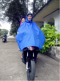 Áo mưa khoác