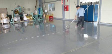 Thi công sơn sàn