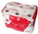 Giấy vệ sinh 12 cuộn đỏ lõi nhỏ Maxcare