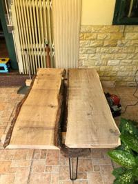 Xẻ phôi mặt bàn gỗ sồi trắng