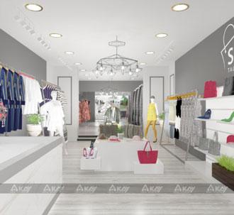 Thiết kế thi công shop Xinh