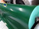Băng tải PVC xanh trơn