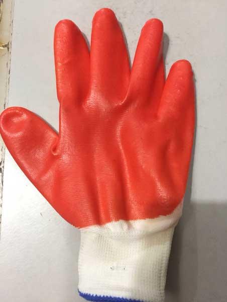 Găng tay phủ nhựa vàng