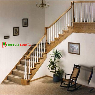Cầu thang gỗ cao cấp GPD-17