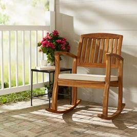 Ghế bập bênh bằng gỗ cứng Acacia