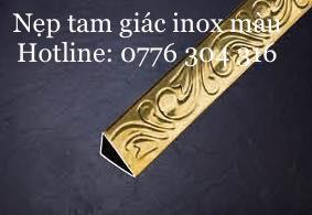 Nẹp Tam Giác Inox Màu vàng