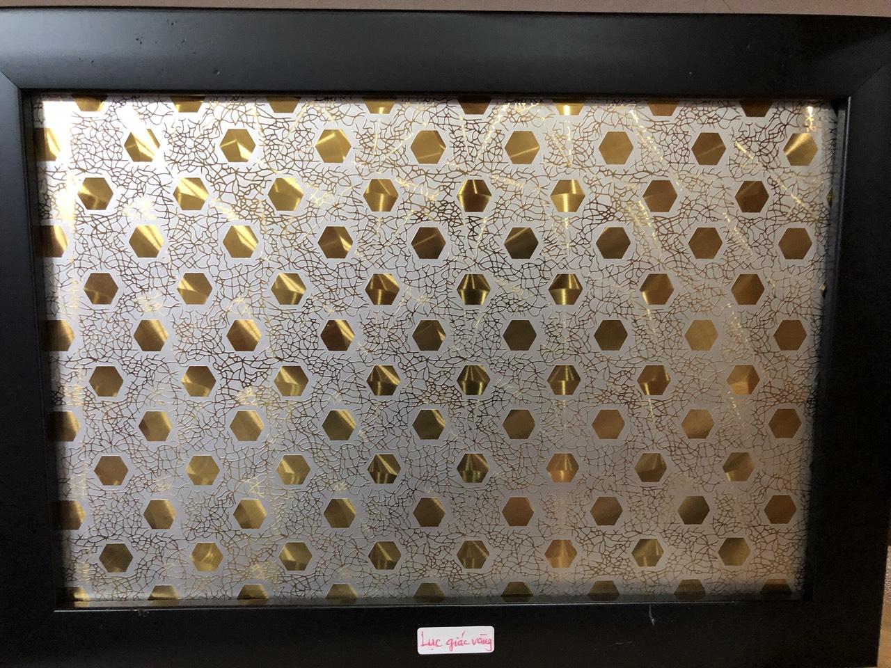 Inox Màu hình lục giác vàng
