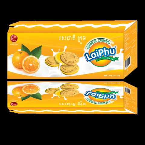 Bánh FRENCH COOKIES CAM hộp 400GUP