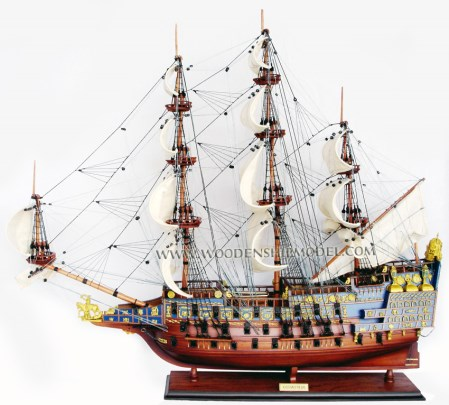 Sovereign Painted Ship Model