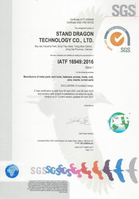 Chứng nhận IATF 16949:2016