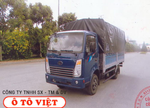 Xe tải Teraco 2T3 mui bạt