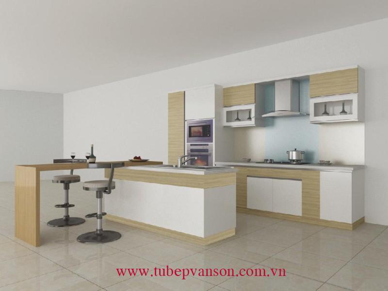 Tủ bếp gỗ ghép dán Laminate
