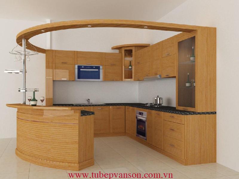 Tủ bếp gỗ ghép veerner sồi