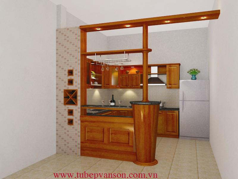 Tủ bếp gỗ Huỳnh Đào Đỏ