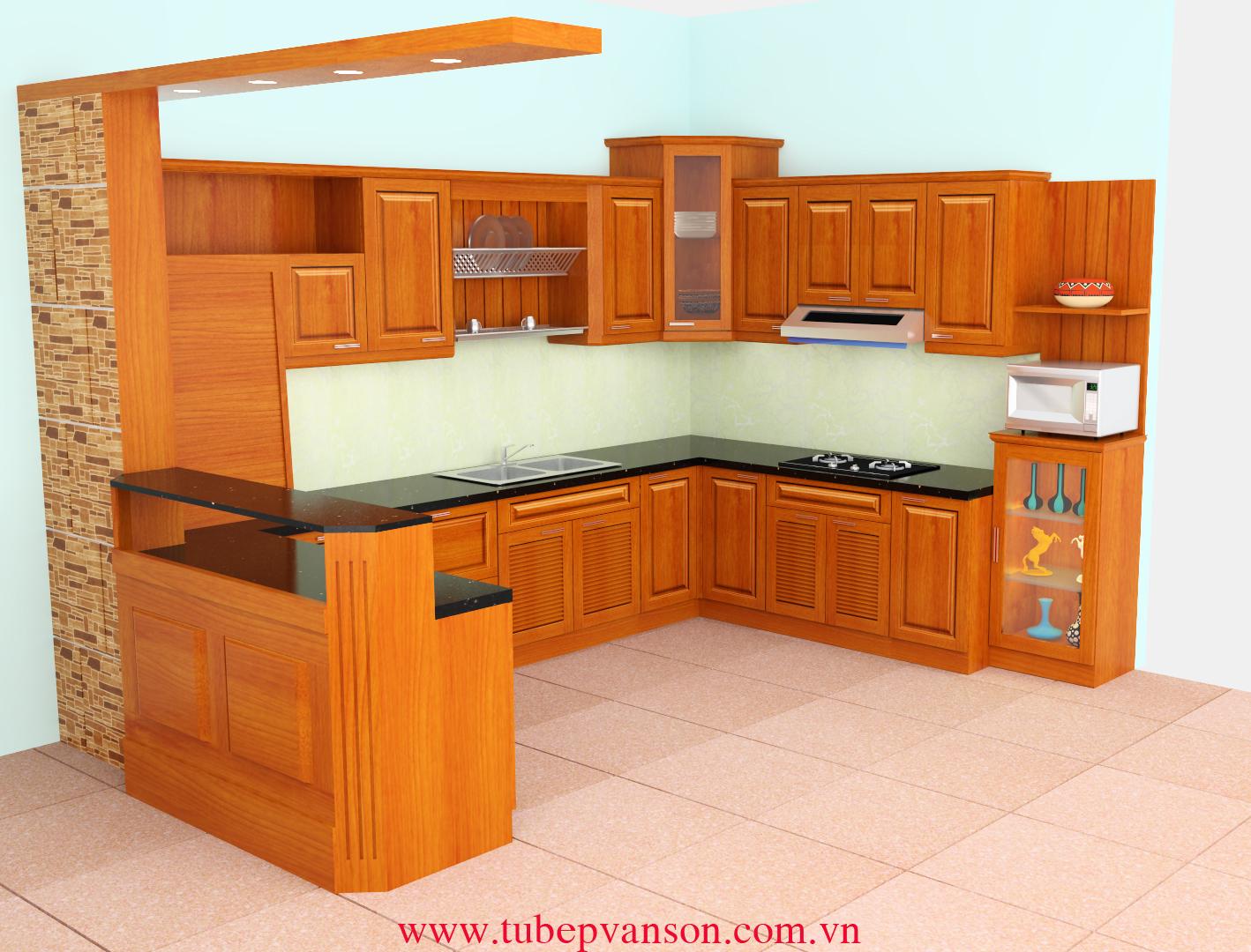 Tủ bếp gỗ Huỳnh Đào Vàng