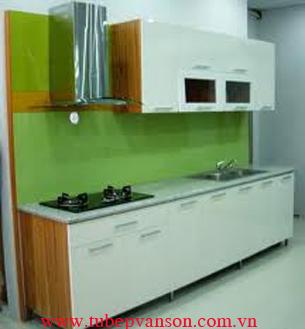 Tủ bếp gỗ thùng inox
