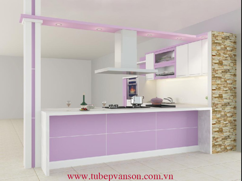 Tủ bếp ván HDF