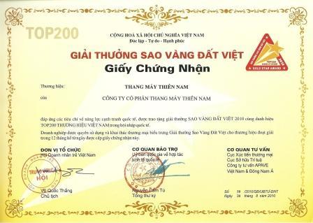 giải thưởng Sao Vàng Đất Việt 2010