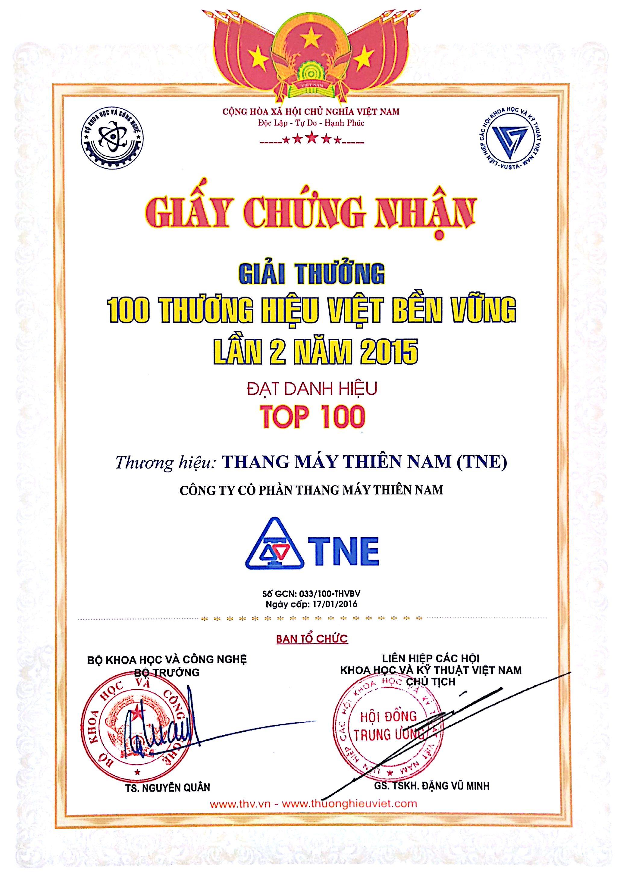 Thương hiệu Việt phát triển bền vững 2015