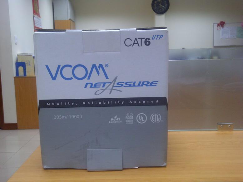 Cáp mạng VCOM Cat6 UTP