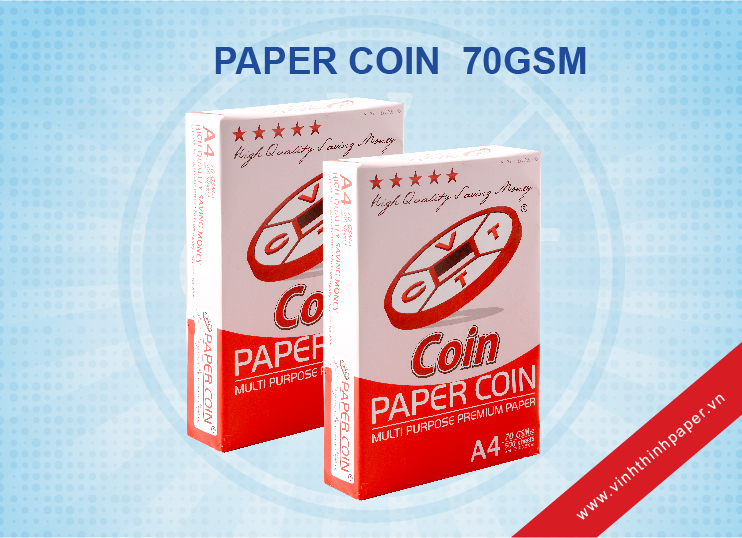 Giấy Photocopy Paper Coin 70gsm