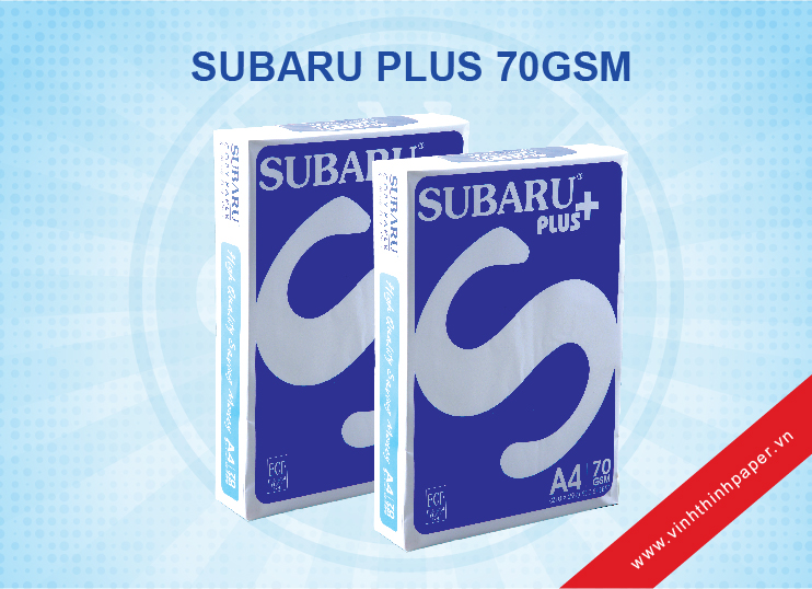 Giấy Photocopy Subaru Plus 70gsm