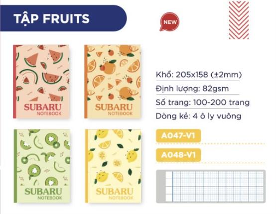 Tập Fruits
