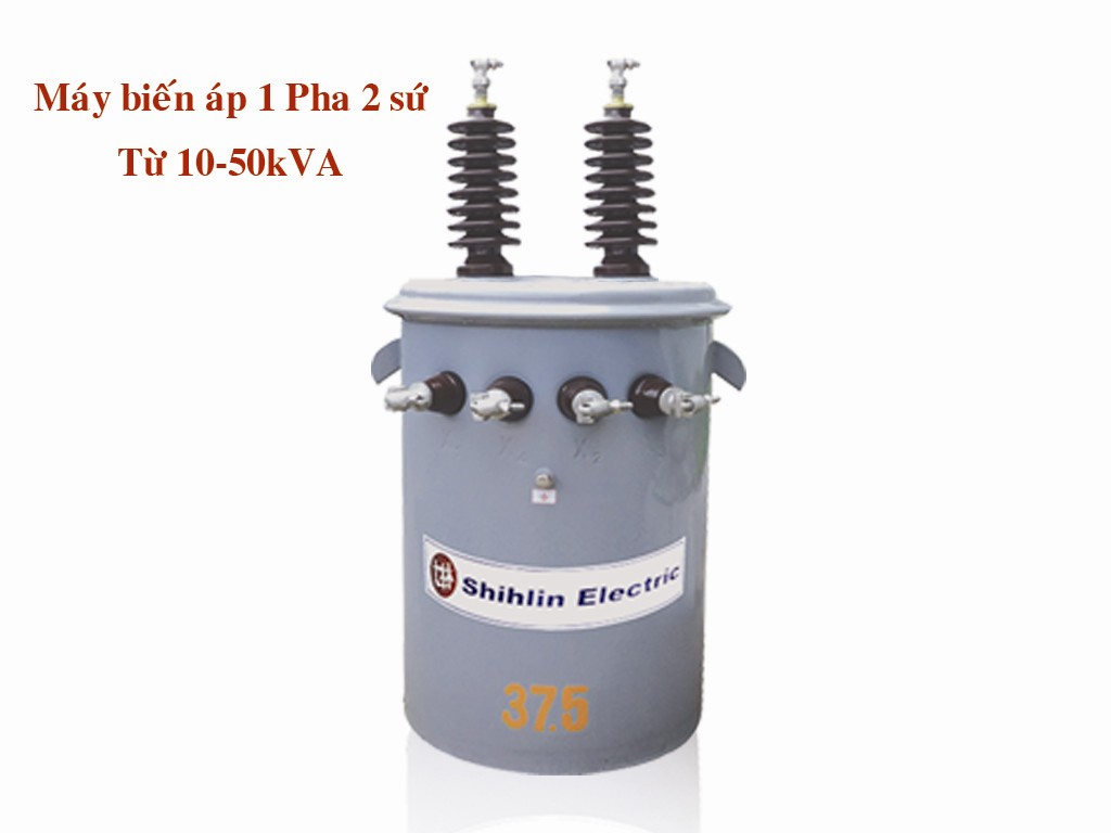 Máy biến áp 1 pha 2 sứ từ 10-50 kVA