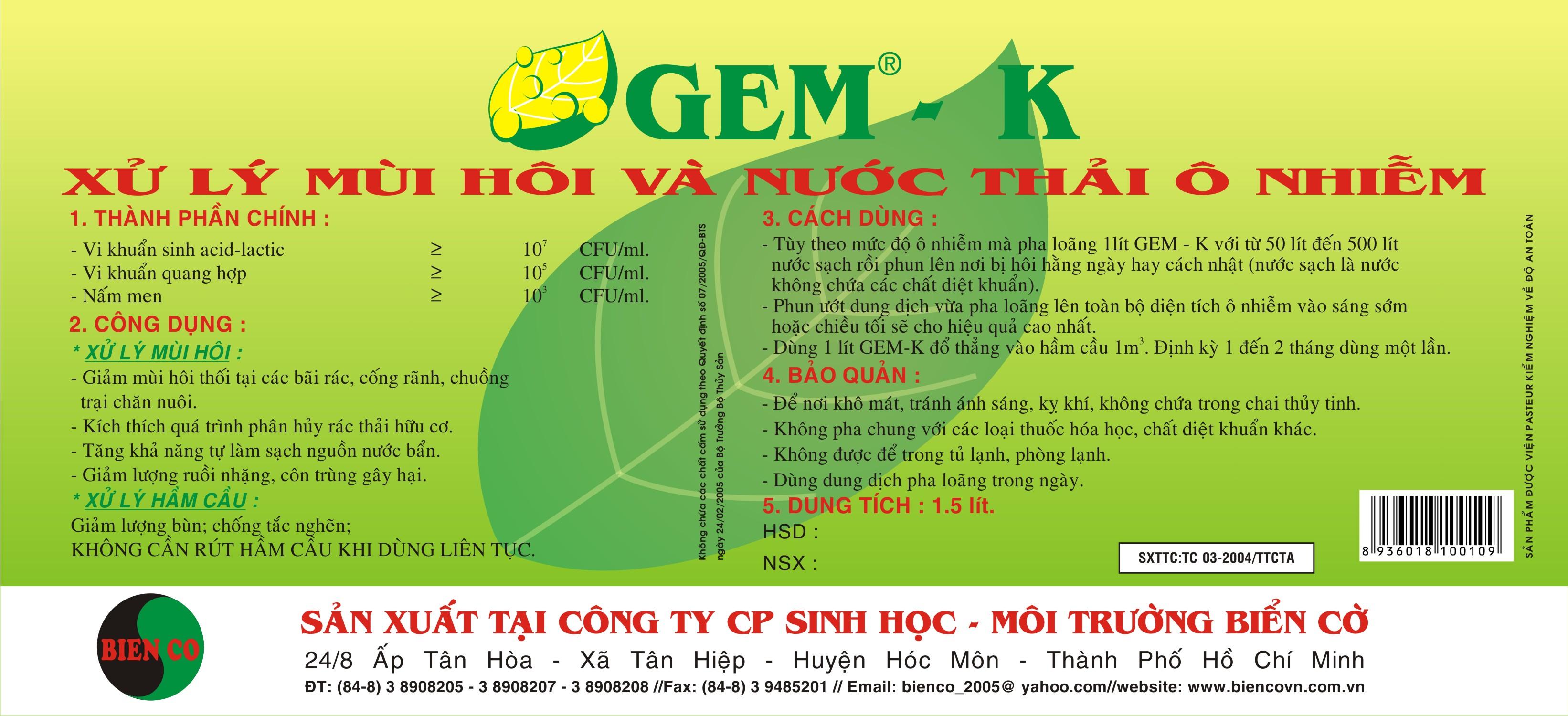 Tem GEM - K