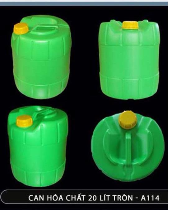 Can nhựa tròn xanh lá cây