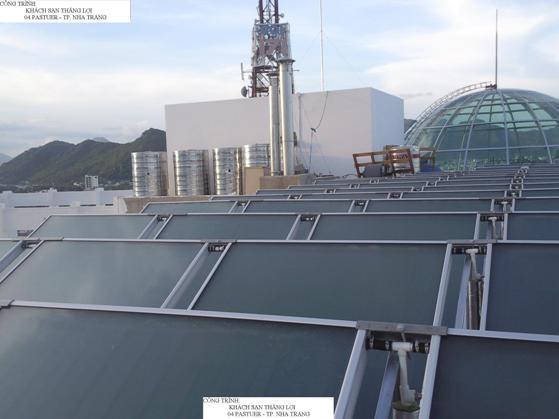 Hệ thống nước nóng NLMT công nghiệp