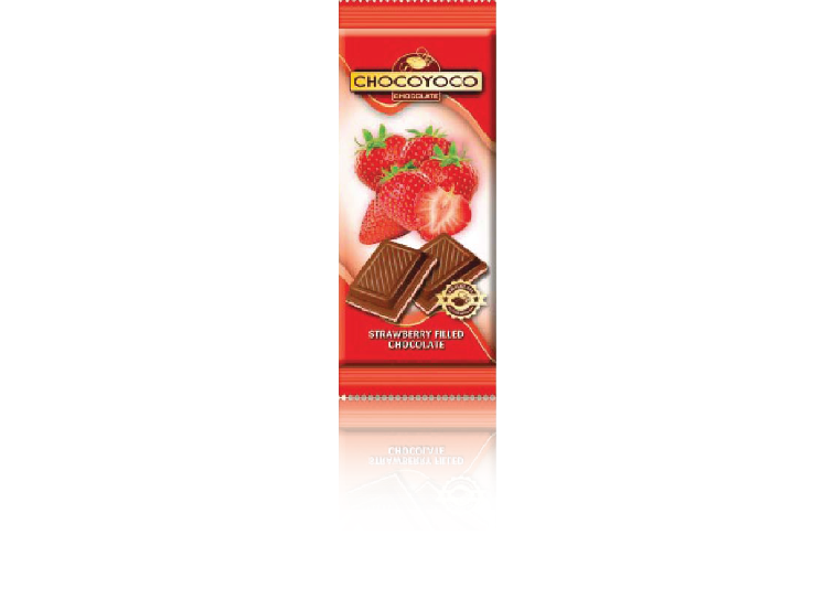 STRAWBERRY FILLED CHOCOLATE ( CHOCOLATE PREMIUM 100G)