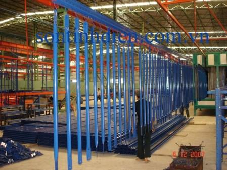 Dây chuyền sơn sản phẩm sắt dài 12m