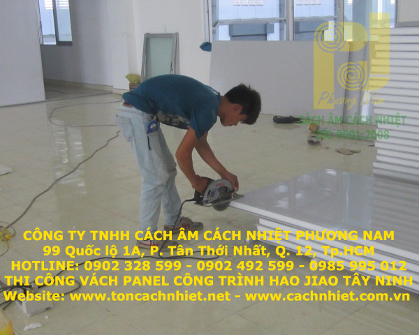 Vách, trần Panel EPS (Công trình Hao Jiao)