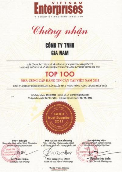 TOP100 nhà cung cấp đáng tin cậy