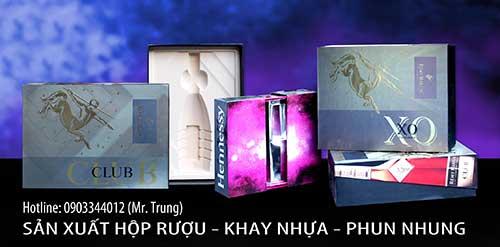 Hộp - Khay nhựa - Phun nhung