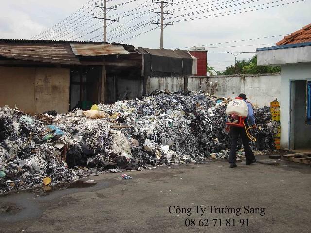 Xịt côn trùng bãi rác