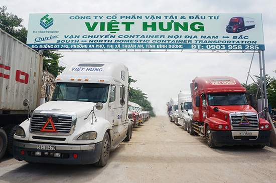 Vận tải container Bắc - Nam