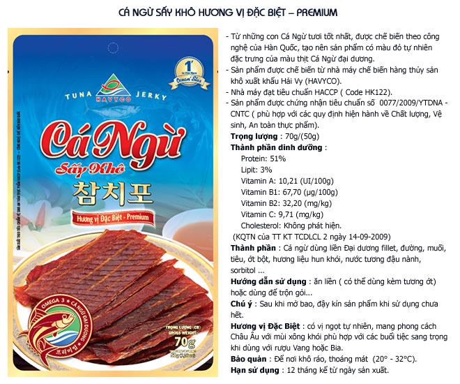 Cá ngừ sấy khô hương vị đặc biệt