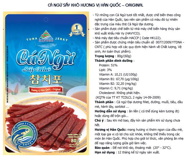 Cá ngừ sấy khô hương vị Hàn Quốc