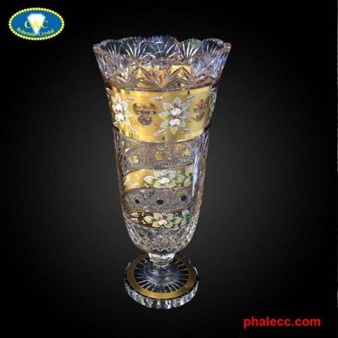 Bình hoa mạ vàng