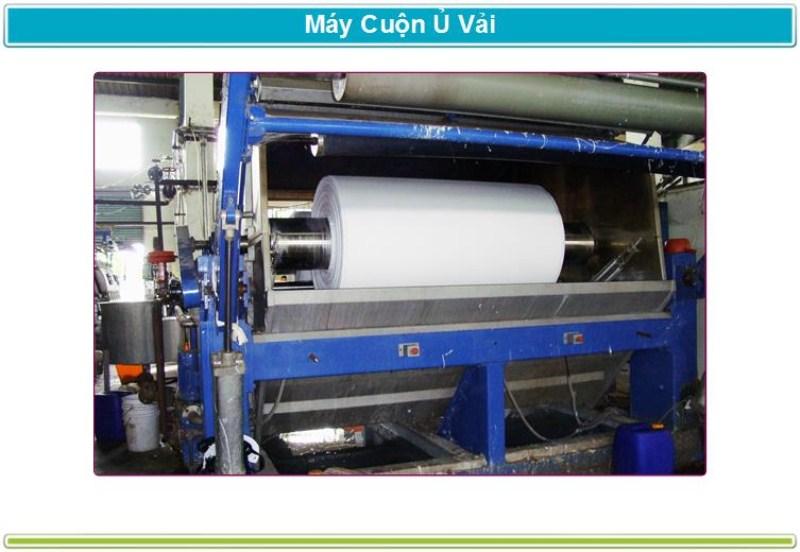 Máy cuộn ủ vải