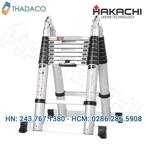 Thang nhôm chữ A Hakachi HM14