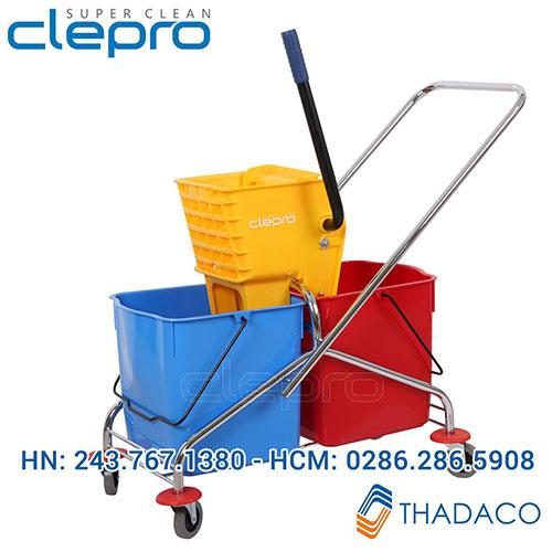 Xe đẩy vắt cây lau nhà 2 ngăn Clepro