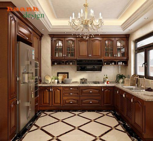 Tủ bếp gỗ tự nhiên cao cấp