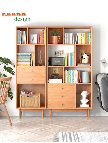 Tủ sách gỗ tự nhiên